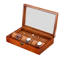 Wood Watch Display Box Jewelry Ring Storage Organizer with Window Wooden Case Watch Storage Packing Gift Boxes Jewelry Case