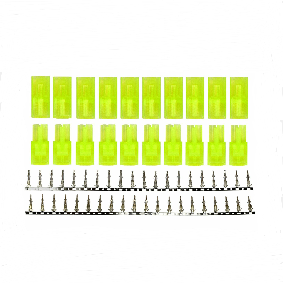5/10 Pairs Mini Tamiya Style Battery Connectors Plugs  Male And Female Plug Sets With Nickle Pins For RC Hobby Car Boat Plane