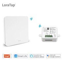 Commutateur intelligent de WiFi de vie de Tuya avec le commutateur sans fil à télécommande auto alimenté cinétique de RF, commande vocale dalexa Echo Google Home