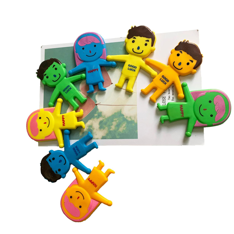 6pcs/Set Vent Family Dog Cat Squeeze Toys TPR Person Stretch Folding Ornaments Adult Stress Relief Toy Dolls Toys For Children