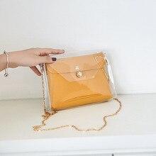 Crossbody прозрачные сумки для женщин прозрачные кошельки сумка кошелек плечо сумка-мессенджер +Soft +Silica Gel +Preppy Style Cute Student PU