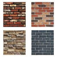 Wall Sticker 3D Faux Brick Wallpaper Roll Vinyl PVC Retro Industrial Loft Wall Paper Home Decor Sticker