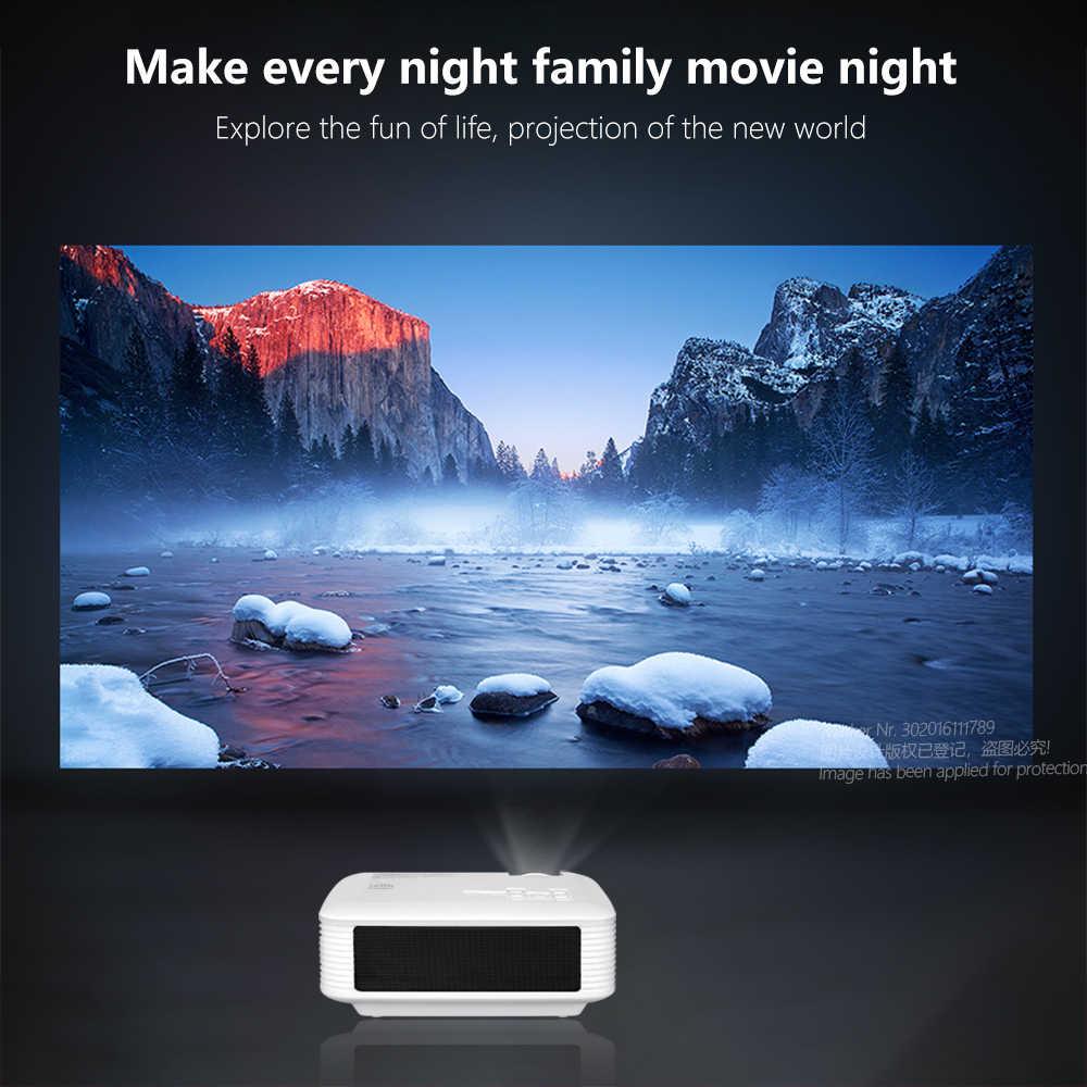 AUN LED MINI proyector | Proyector 4K (X96Q) Full HD 1080p de teatro en casa | 3D Video proyector | Proyector LED portátil al aire libre