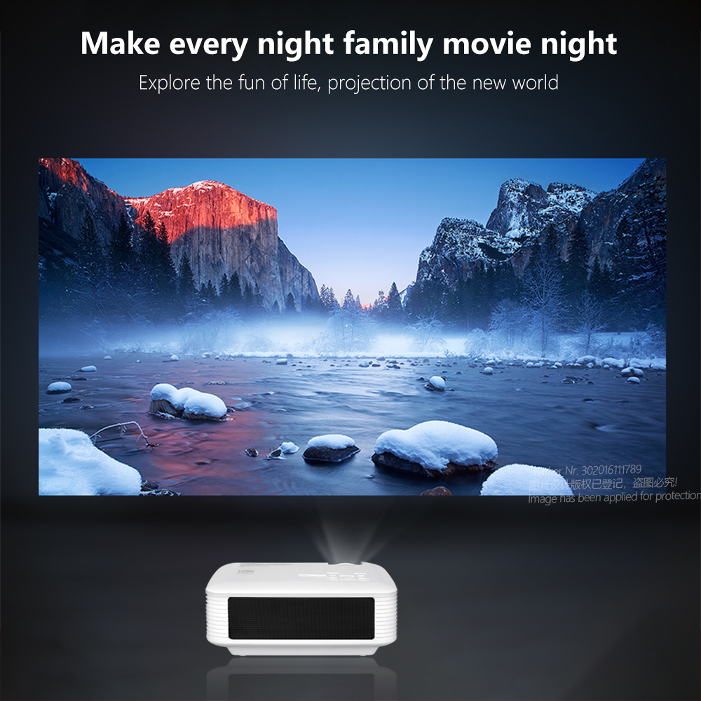 AUN mini projetor D50s  1280x720P/800x480P  suporte android wifi projetor 4k (x96q)   home theater full hd 1080p 3d   mini projetor portátil-2