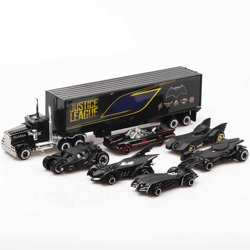 アベンジャーズ 1:64 合金車セットバットマンバットモービル diecasts 鉄スパイダーマン、キャプテン · アメリカ車のモデルのおもちゃ子供のため