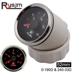 52mm Auto Motorcycle Fuel Level Gauges 0-190ohm & 240-33ohm Fuel Level Meters 9-32v Marine Fuel Gauges Level Sensor Sender Unit