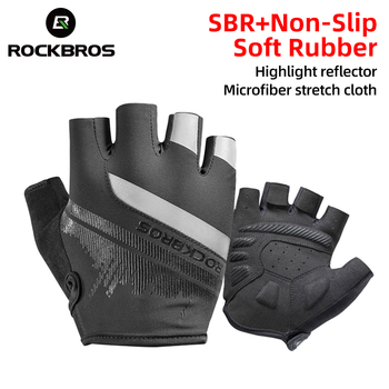 ROCKBROS Cycling Gloves Half Finger Shockproof Wear Resistant Breathable MTB Road Bicycle Gloves Men Women Sports Bike Equipment 1