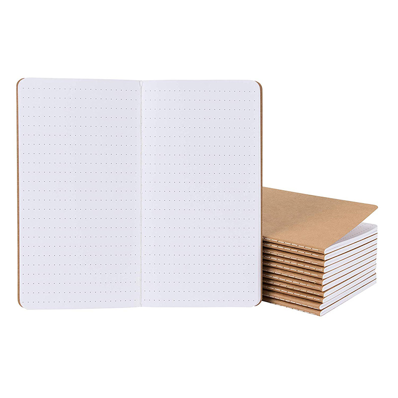 Small Notebook Bulk Portable Mini Pocket Notebook Grid Paper Notebook 12 Pack 4.3 X 8.2 Inches, Dot Grid