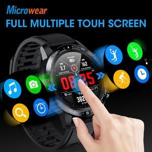 Image 3 - Microwear relógio smartwatch l12, bluetooth, chamadas, ecg + ppg, monitor cardíaco, pressão sanguínea, a prova d água ip68, novo, 2020 l7 l11