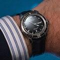 Спортивные часы Reef Tiger/RT для мужчин  нейлоновый ремешок  автоматические Супер Светящиеся стальные часы для дайвинга с датой RGA3035