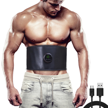 Abdominal Muscle Stimulator EMS Trainer Waist Support Belt Electro Stimulation Body Slimming Massager Fitness Equiment