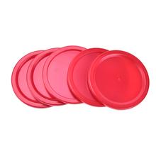 Nowy gorący! 5 szt Krążki hokejowe 2 #8222 krążek dziecięcy czerwony stół do hokeja stołowego Mini krążki 50mm tanie tanio GUOMUZI CN (pochodzenie)