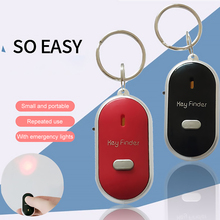 Portable Size Keychain Old People Anti-Lost Alarm Key Finder Wireless Useful Whistle Sound LED Light