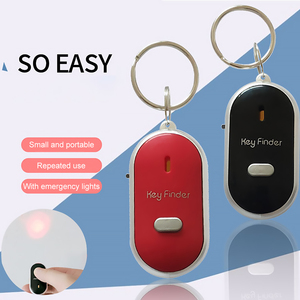 Portable Size Keychain Old People Anti-Lost Alarm Key Finder Wireless Useful Whistle Sound LED Light Locator Finder Keychaing