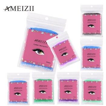 100PCS Disposable Eyelash Brushes Swab Microbrushes Eyelash Extension Tools Individual Eyelashes Removing Tools Applicators