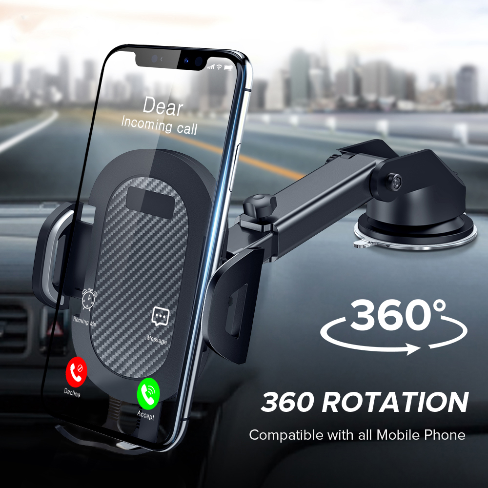 Phone Holder 360 Rotation Mount In Car Stand For Samsung IPhone Huawei No Magnetic Support Mobile Phone Sucker Car Phone Bracket