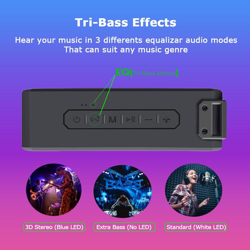 40W Bluetooth Speaker IP7X Waterproof Portable Column Super Bass Subwoofer Soundbar TWS Stereo Music Center 15 Hours Life Time