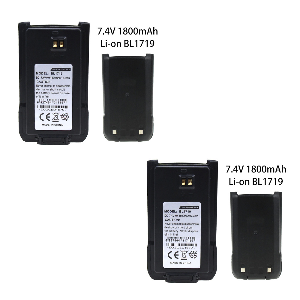 2 Pcs 1800mAh Li-ion Replacement Battery For HYT BL1719 TC-580 TC-518 TC-446S TC-500S TC-560 TC-585 Walkie Talkie Battery
