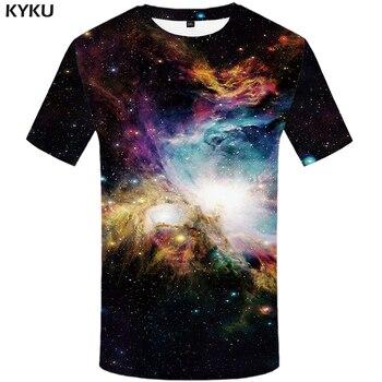 KYKU Brand Galaxy T-shirt Men Colorful Tshirt Printed Cloud Tshirts Casual Space T-shirts 3d Shirt Print Mens Clothing T shirts
