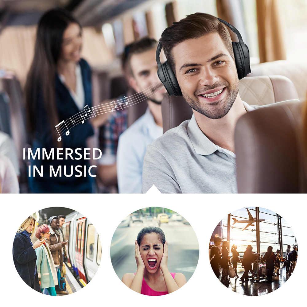 Mpow H5 2nd 2Gen bezprzewodowe słuchawki Bluetooth ANC aktywne słuchawki z redukcją szumów torba do przenoszenia dla Huawei P30 Iphone XR