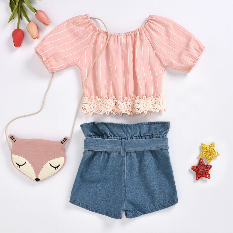 18M-5Year baby girls jeans shorts 2020 summer girl short pants for kids ripped jeans for children denim shorts 3