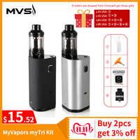 [RU entrepôt] Kit MyVapors myTri d'origine avec sortie d'atomiseur 300W Kit de Vape en Mode VW/TC/TCR VS Kit Myjet e-cig
