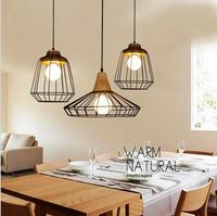 Retro loft industrial Pendant light For living Room bar cafe restaurant lamp creative art studio fashion apparel shop lightin