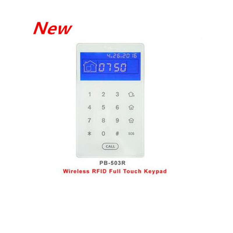 Nice Design PB-503R Touch Screen Rfid Tag Wireless Keypad To Arm Disarm Focus Alarm System