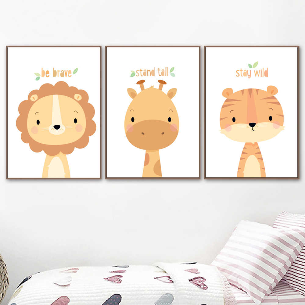 Print Jungle Baby Ren Canvas Art