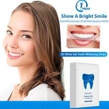 7 Bags 3D Whitening Tooth Sticker Remove Black Yellow Teeth Fresh Breath Teeth Whitening Strips Long Lasting