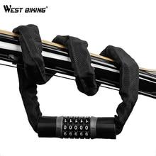 Chain-Lock Motorcycle-Lock Bike West-Biking Cycling Electric-Bicycle-Accoessories Steel-Password