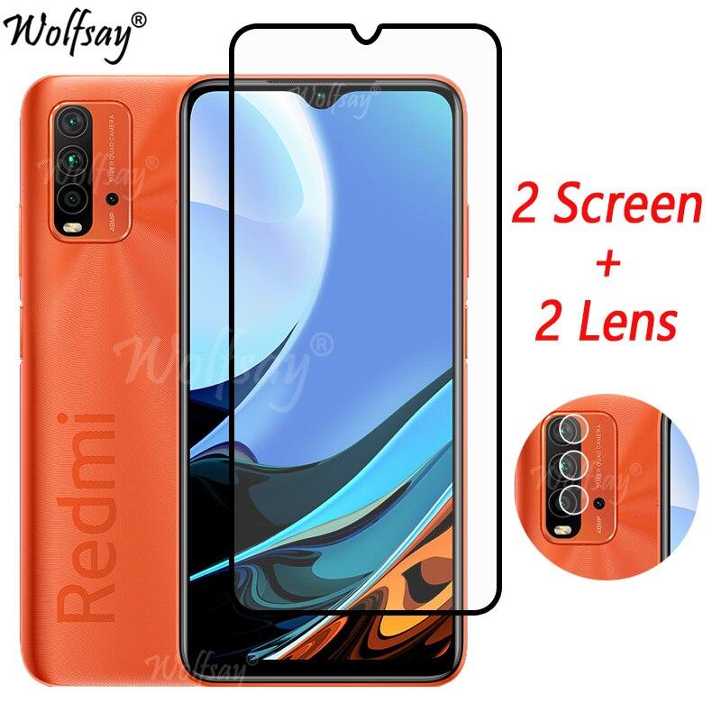 Клейкое закаленное стекло с полным покрытием для Xiaomi Redmi 9 T, Защита экрана для Redmi 9 T, стекло для камеры для Redmi 9 T 9 T, стекло 6,53 дюймов