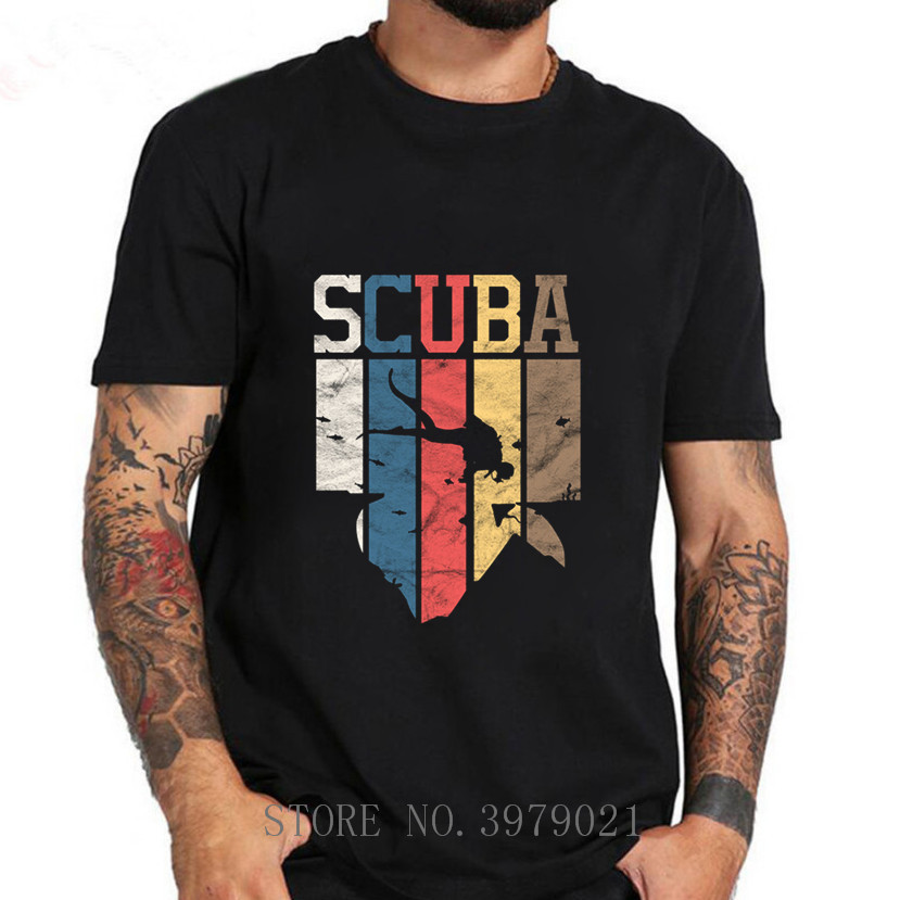 2019 O-Neck Tops Male New Fashion For Men Short Sleeve Vintage Scuba Diving T-Shirt Gift Idea T Shirt Funny Casual Tee Shirts