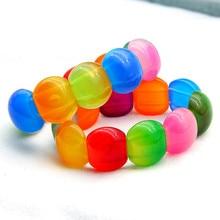 Sweet Colorful Stretch Beads Bohemian Bracelets&Bangles Resin Charm Chain Bracelets For Women Fashion Jewelry Wholesale