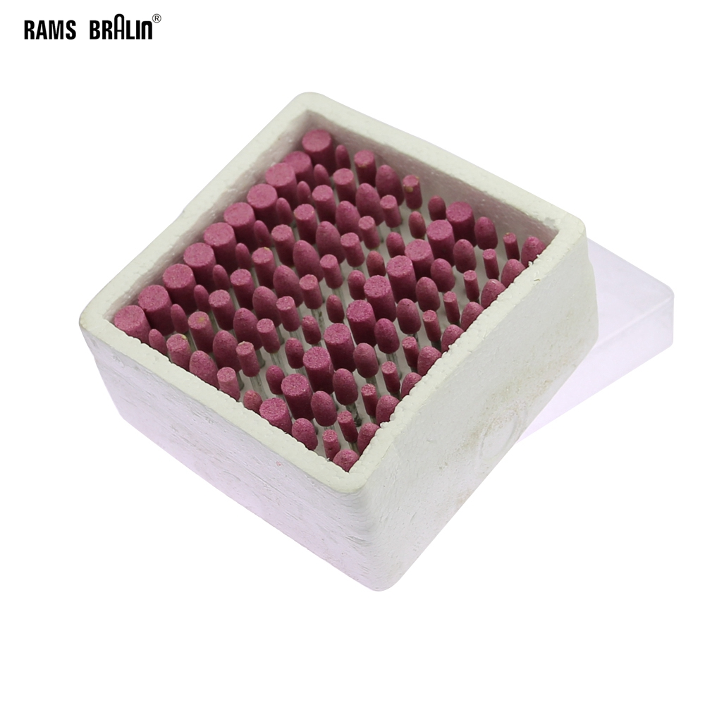 100 Pcs/box Ceramic Mounted Point Stone Grinding Head Wheel Dremel Drill Rotary Tools