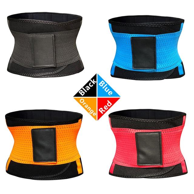 Neoprene Sweat Belt Waist Trainer Workout Trimmer Body Shaper Weight Loss Exercise Slimming Girdle Waist Support Women Men 2