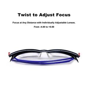 Image 3 - Adlens פוקוס מתכוונן קריאת משקפיים קוצר ראיה משקפיים 4D כדי + 5D דיופטריות מגדלת כוח משתנה