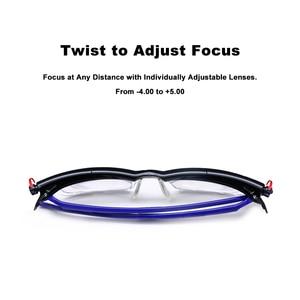 Image 3 - Adlens di Messa A Fuoco Regolabile Occhiali Da Lettura Miopia Occhiali Da Vista 4D a + 5D Diottrie Ingrandimento Variabile Resistenza