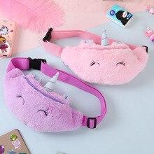 Belt-Bag Phone-Pouch Waist-Pack Unicorn Cute Pocket-Korea Travel Teenager Girl Plush