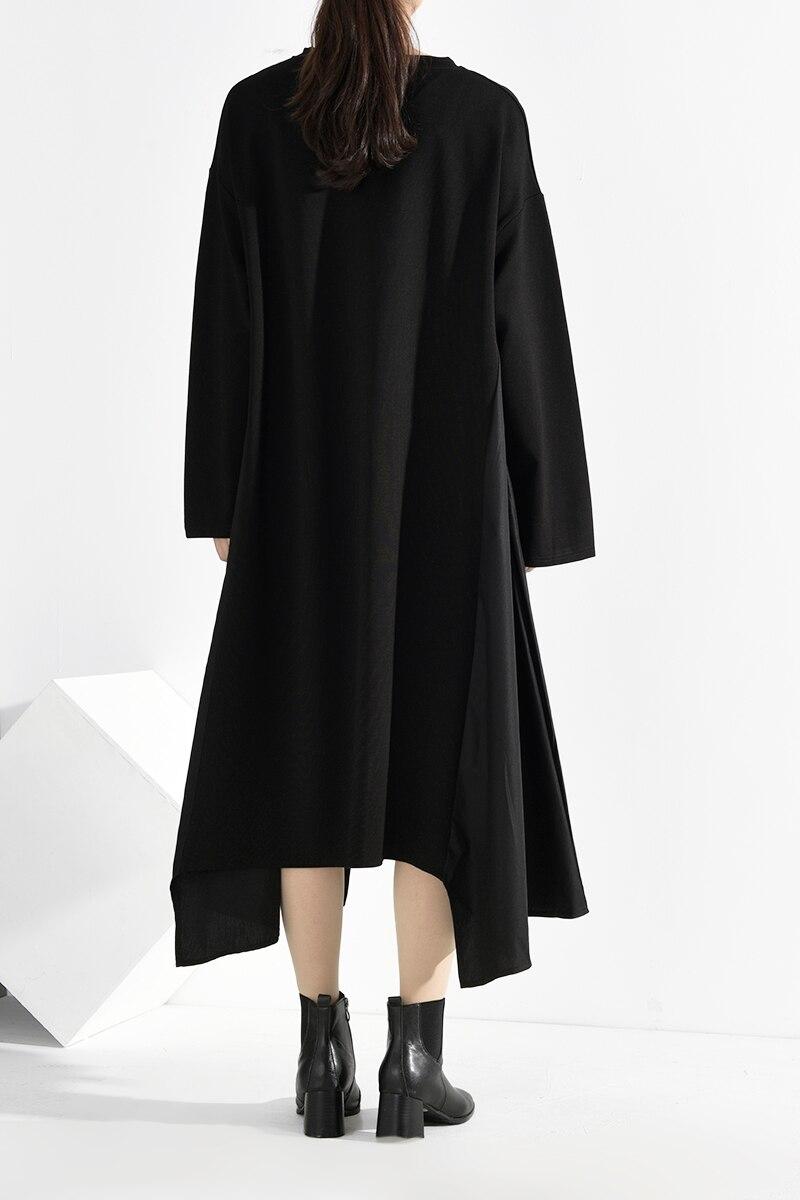New Fashion Style Asymmetrical Split Big Size Long Dress Fashion Nova Clothing