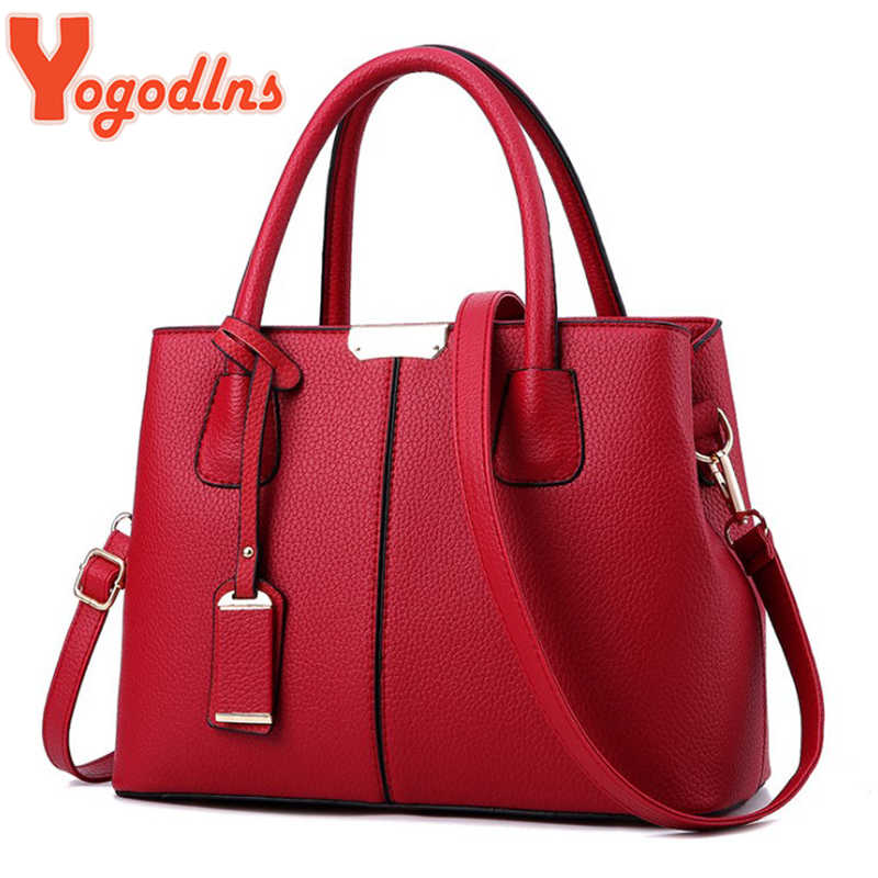 Yogodlns Famous Designer Brand Bags Women Leather Handbags 2019 Luxury Ladies Hand Bags Purse Fashion Shoulder Bags