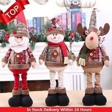 Décorations de noël pour la maison, 30 Styles, poupées de noël, décorations pour arbre de noël, décorations créatives pour père noël, Elk, bonhomme de neige, tendance 2021