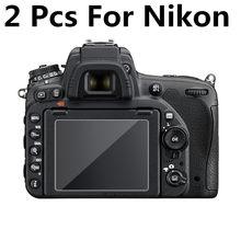 Закаленное стекло для камеры 2 шт. 9H Защита ЖК-экрана для Nikon D3300 D3400 D3500 D5100 D5300 D5500 D5600 D7100 D7200 D7500 Z6 Z7