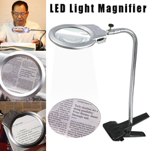 Clip Magnifier Book-Stands Lighted Lamp Table-Top Desk-Reading LED Jhp-Best