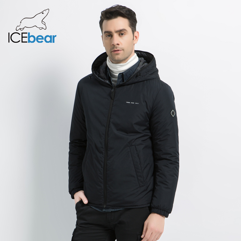 ICEbear 2019 nowa męska kurtka w podwójnym noszenia męska jesień ciepły płaszcz wysokiej jakości na co dzień odzież męska MWC19686I w Parki od Odzież męska na  Grupa 1