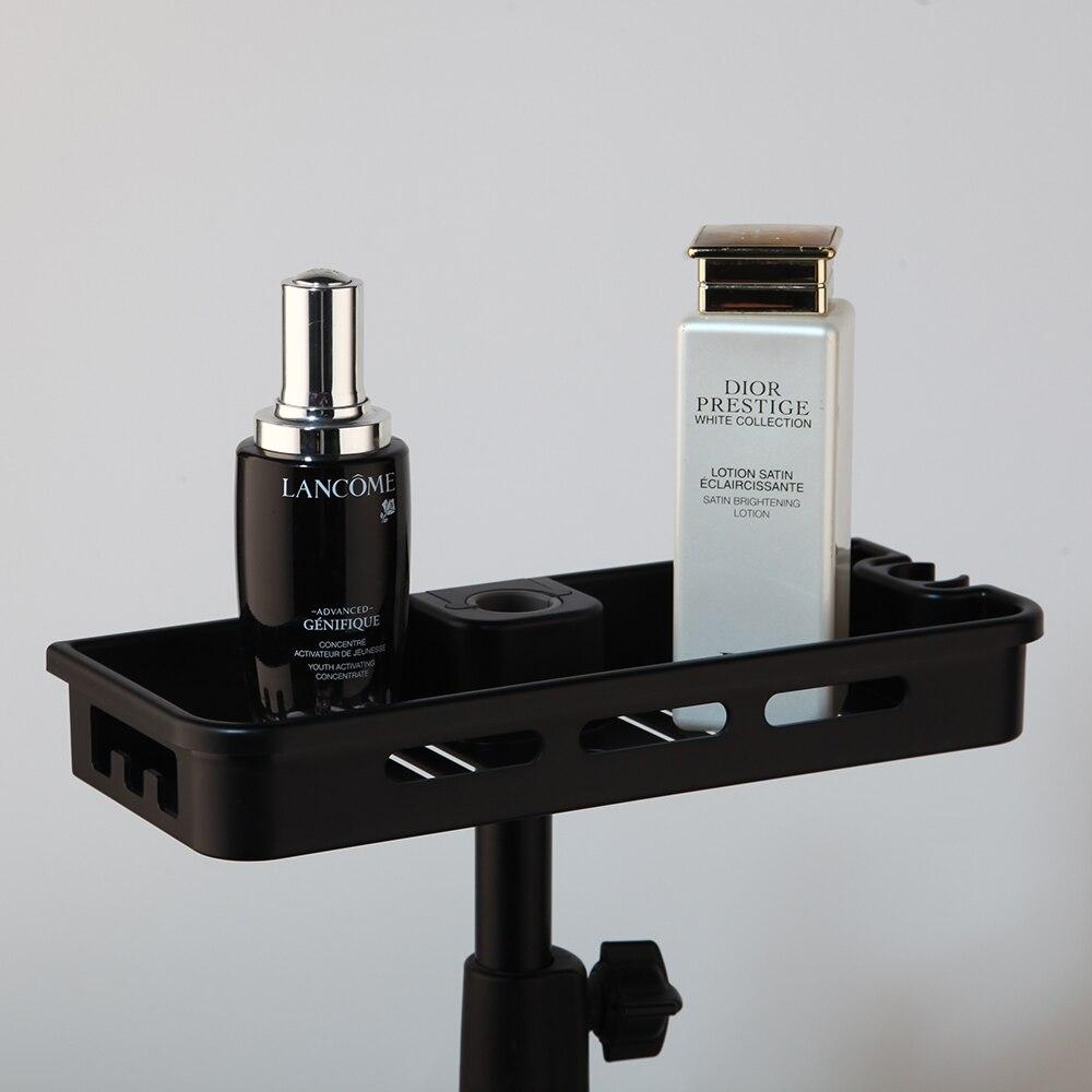 Shower-Faucet-Set Storage-Shelf Water-Tap Rainfall Single-Lever Black Bathtub KEMIDI