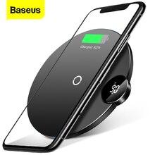Baseus ledチーワイヤレス充電器iphone 11 プロxs max x 10 ワット高速wirless用のパッドの充電サムスンS10 S9 xiaomi mi 9