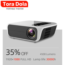 TORA DOLA Full HD 1920*1080P Portable Projector T8-AD,Android 7.1(2G + 16G),Support 4K Home Cinema Theater Media Video Player