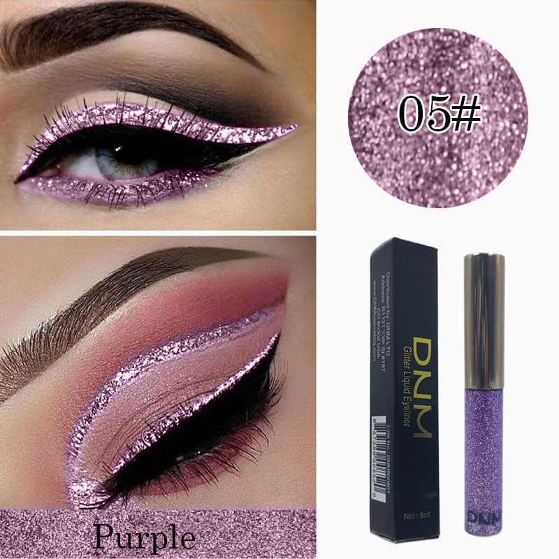 Novo profissional brilhante olho forros cosméticos para mulher pigmento 16 cores líquido glitter delineador à prova dwaterproof água barato make-up tslm1