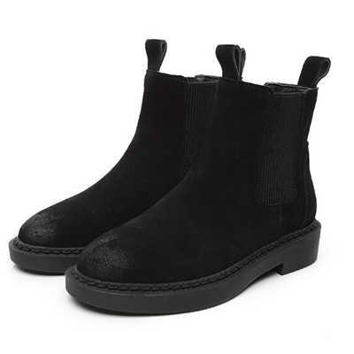 Vrouwen Enkellaarsjes Echt Leer Winter Sneeuw Schoenen Vrouwen Martin Laarzen Koe Suede Dames Hoge Kwaliteit Laarzen Botas Mujer